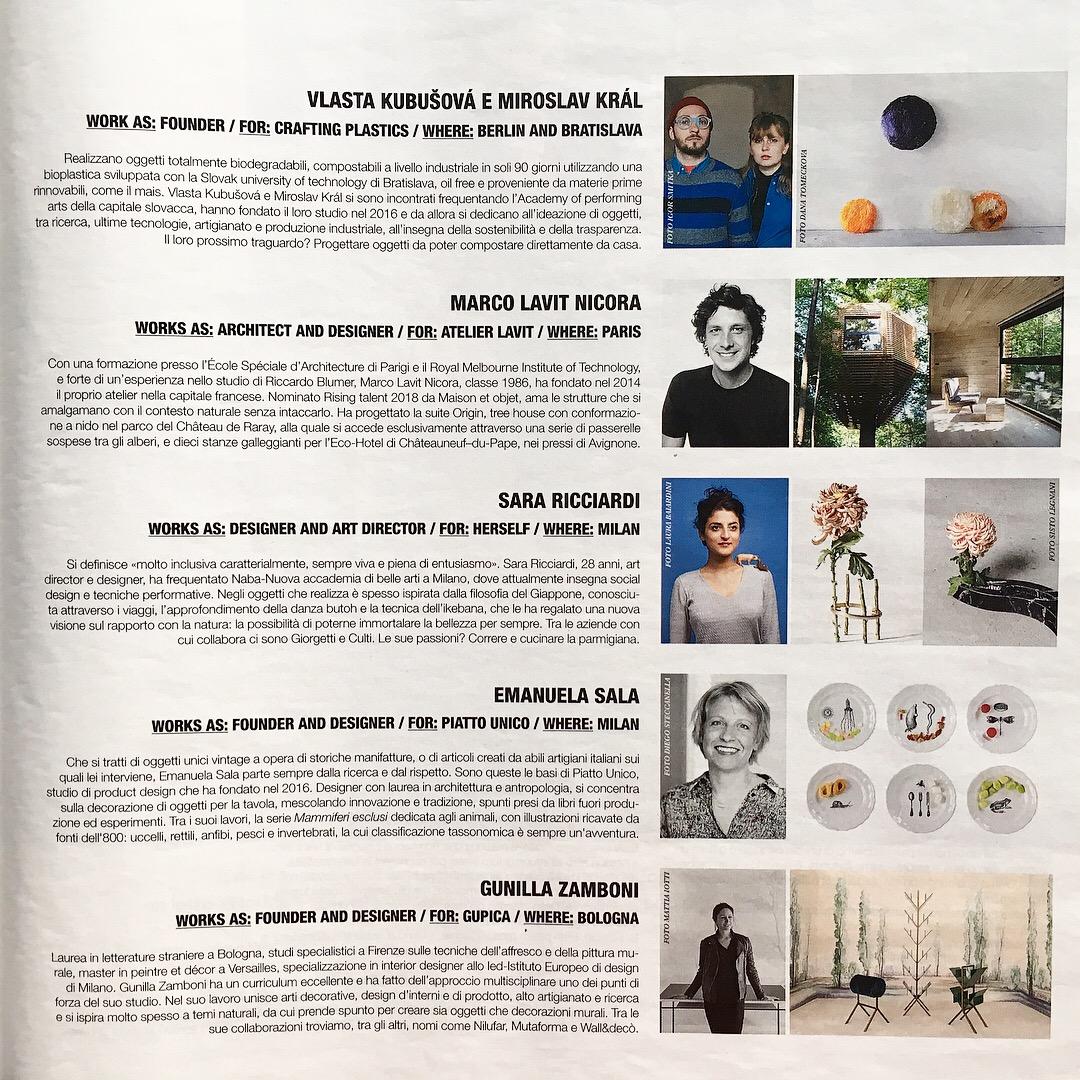 "MFL Magazine for Living , July 2018 | ""Facecool"" di Chiara Chiapparoli. ""Mammiferi esclusi"" small plates."