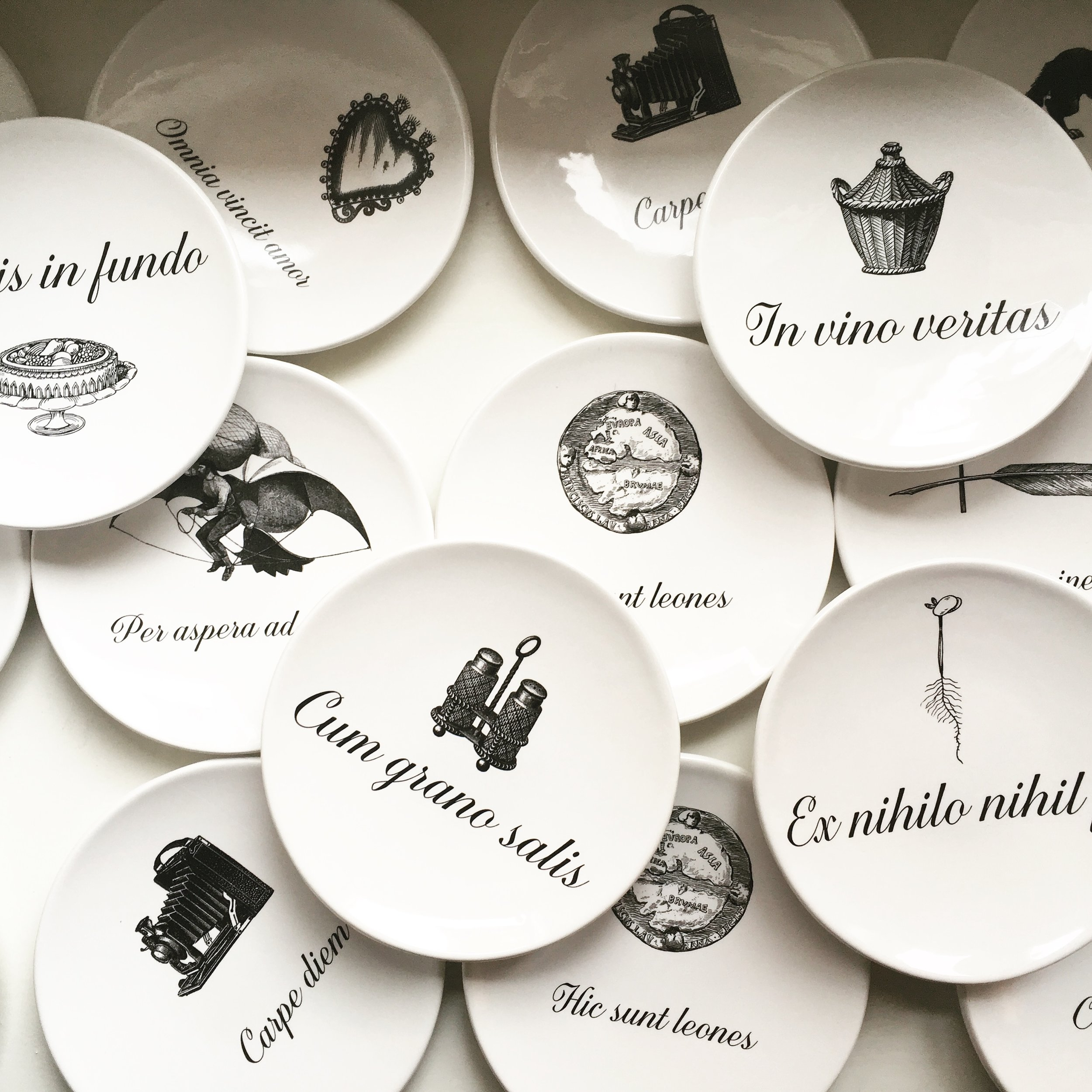 Bespoke order of different designs small plates