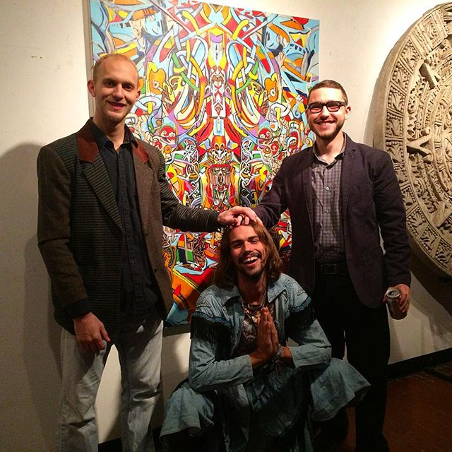Three happy idiots and some great art #blessed