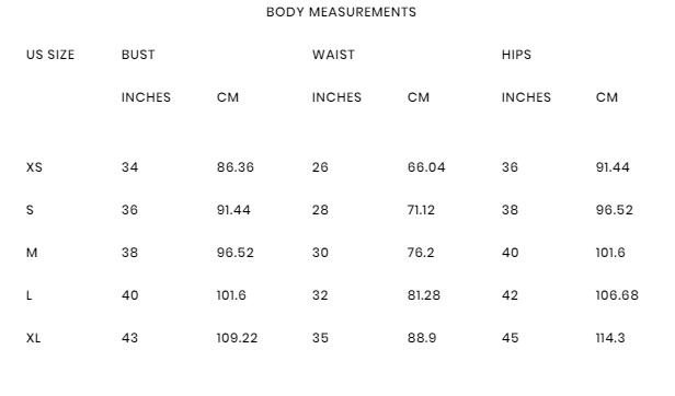 """Résultat de recherche d'images pour """"foxiedox size chart"""""""