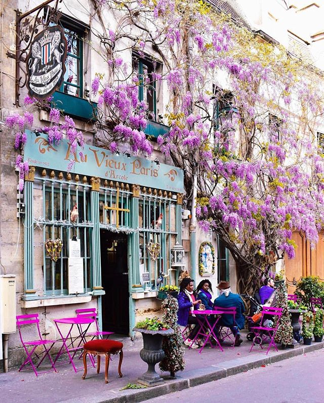 Wouldn't mind sitting in this purple petal scene right about now 💟 . Photo: @a_ontheroad