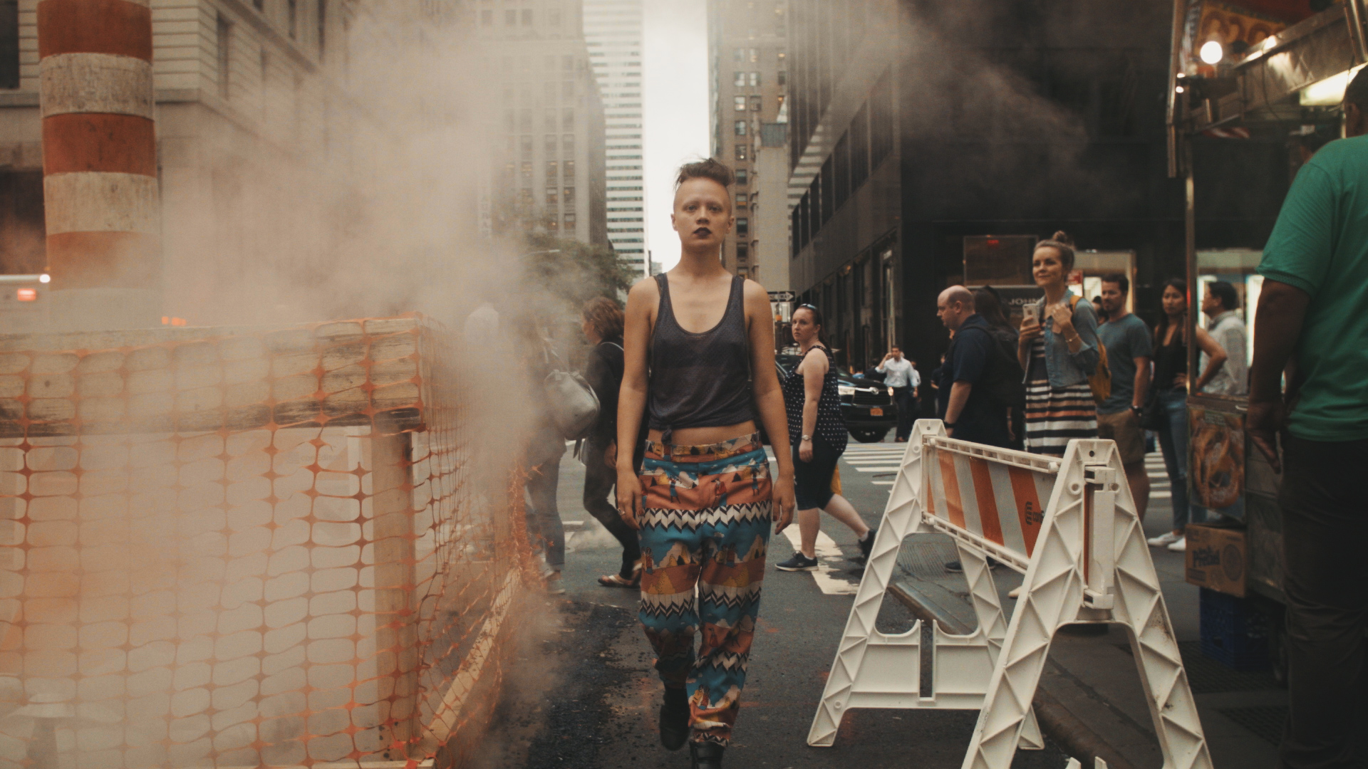 Still from the music video on location in NYC.