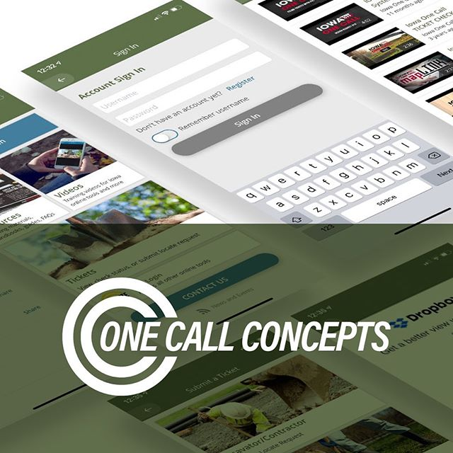 Our team is always ready to take on challenging software development. We partnered with @onecallconcepts (OCC) to develop 36 unique mobile apps that scale across 17 states for iOS, Android and tablet. The apps make it easy for excavators to access training materials and OCC's internal ticketing system.