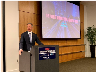 - USPTO Director Iancu stresses the importance of the pace of innovation in the United States.