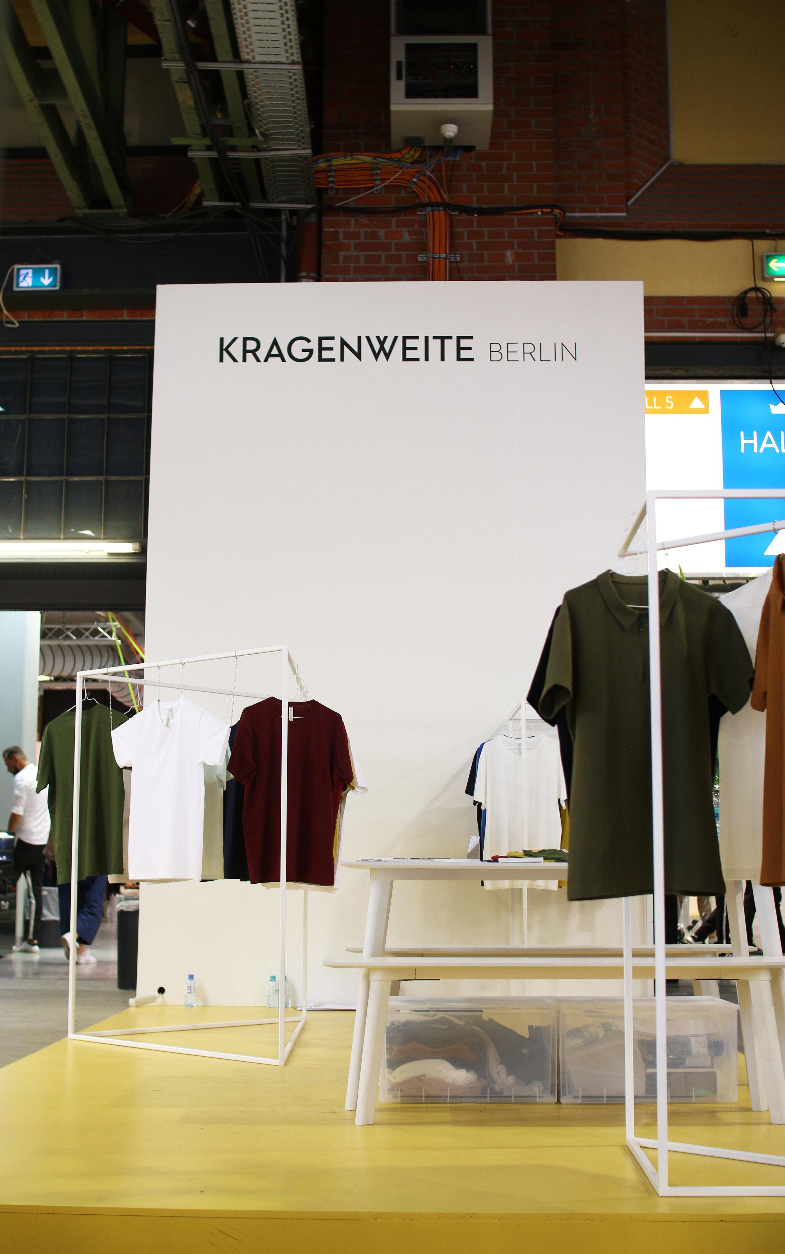 Trunk show display concept for Kragenweite Berlin.  Kragenweite Berlin, Berlin.