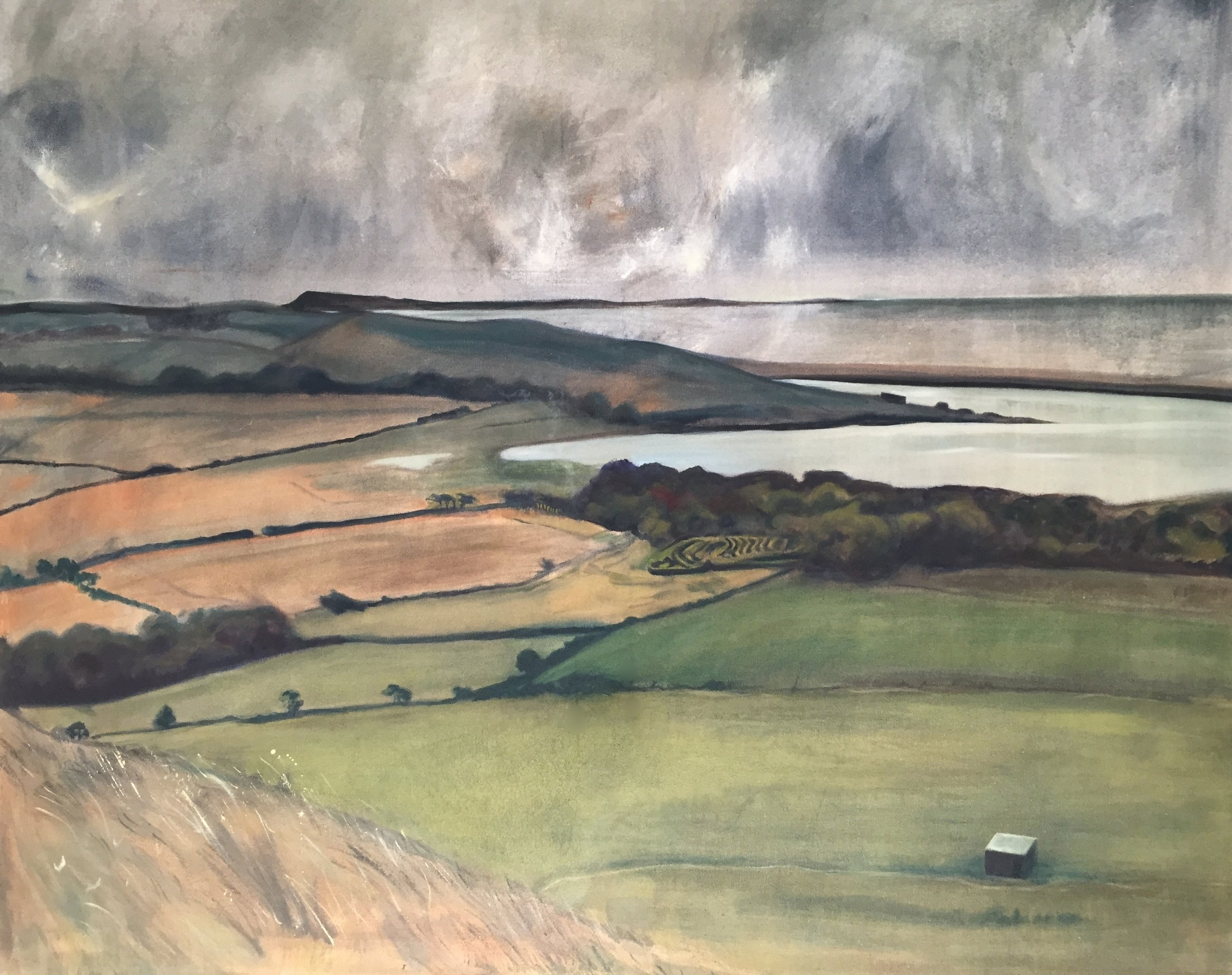 The Fleet from St Catherine's Chapel 2018 Oils 100 x 120cms £750.00