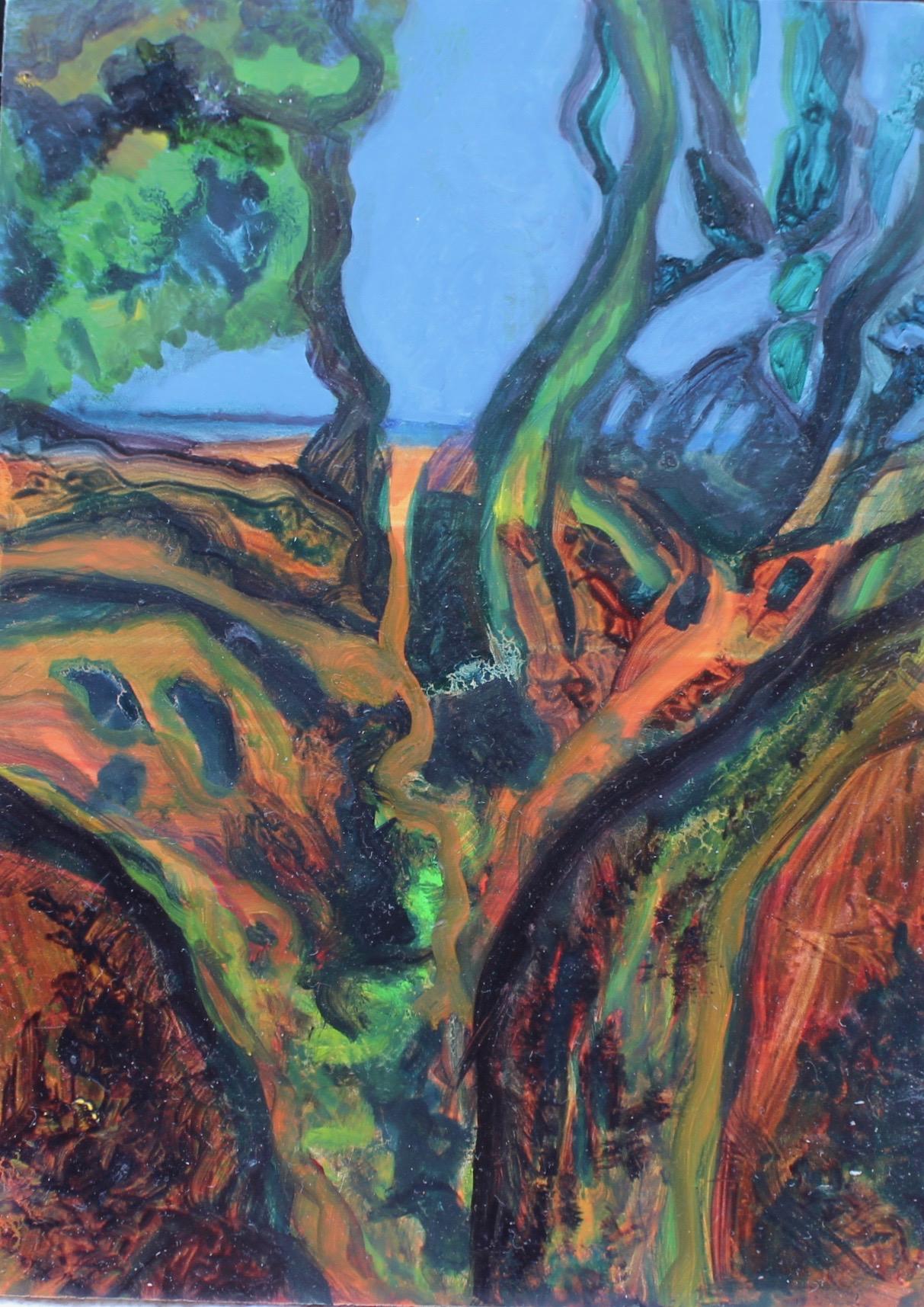 Path to the Sea 2018 Oils 18 x 13 cms