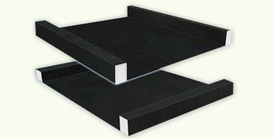 The side rails, and head and foot rail system used in a typical digital air bed system.