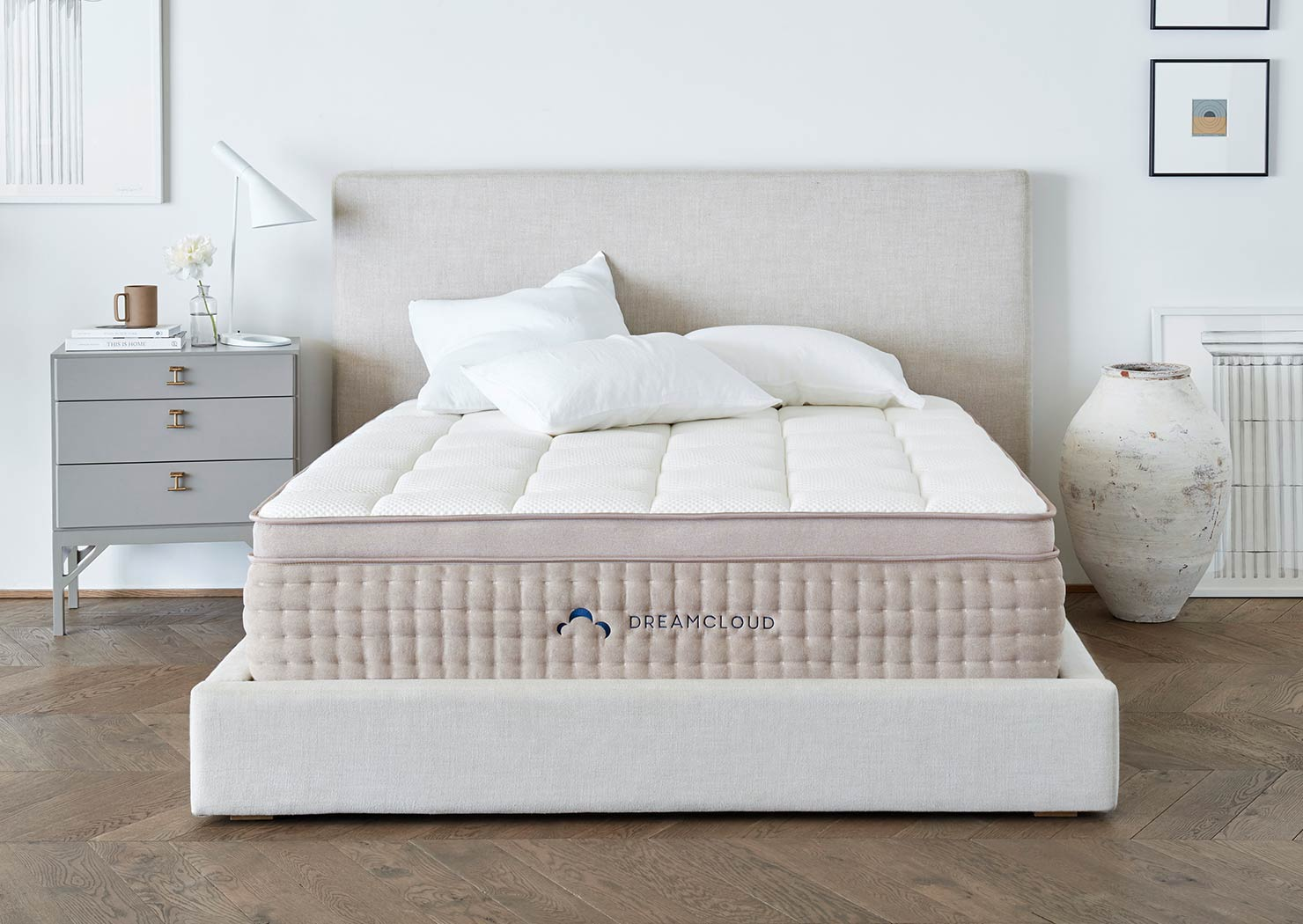 """The DreamCloud Luxury Mattress, hand crafted one at a time by a company I really like, called Resident Brands. For the price, it has no equal in the """"bed in a box"""" category."""
