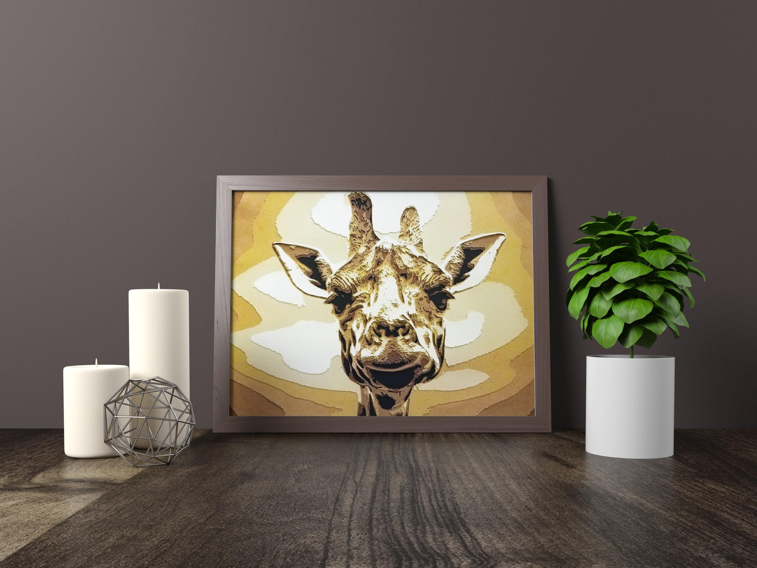 Stand Tall Giraffe - Winner - Award of Excellence, Association of Nebraska Art Clubs, 2018Winner - Honorable Mention, Omaha Artists, Inc. The Artful Letter Art Show, 2018Original artwork *FOR SALE* 11