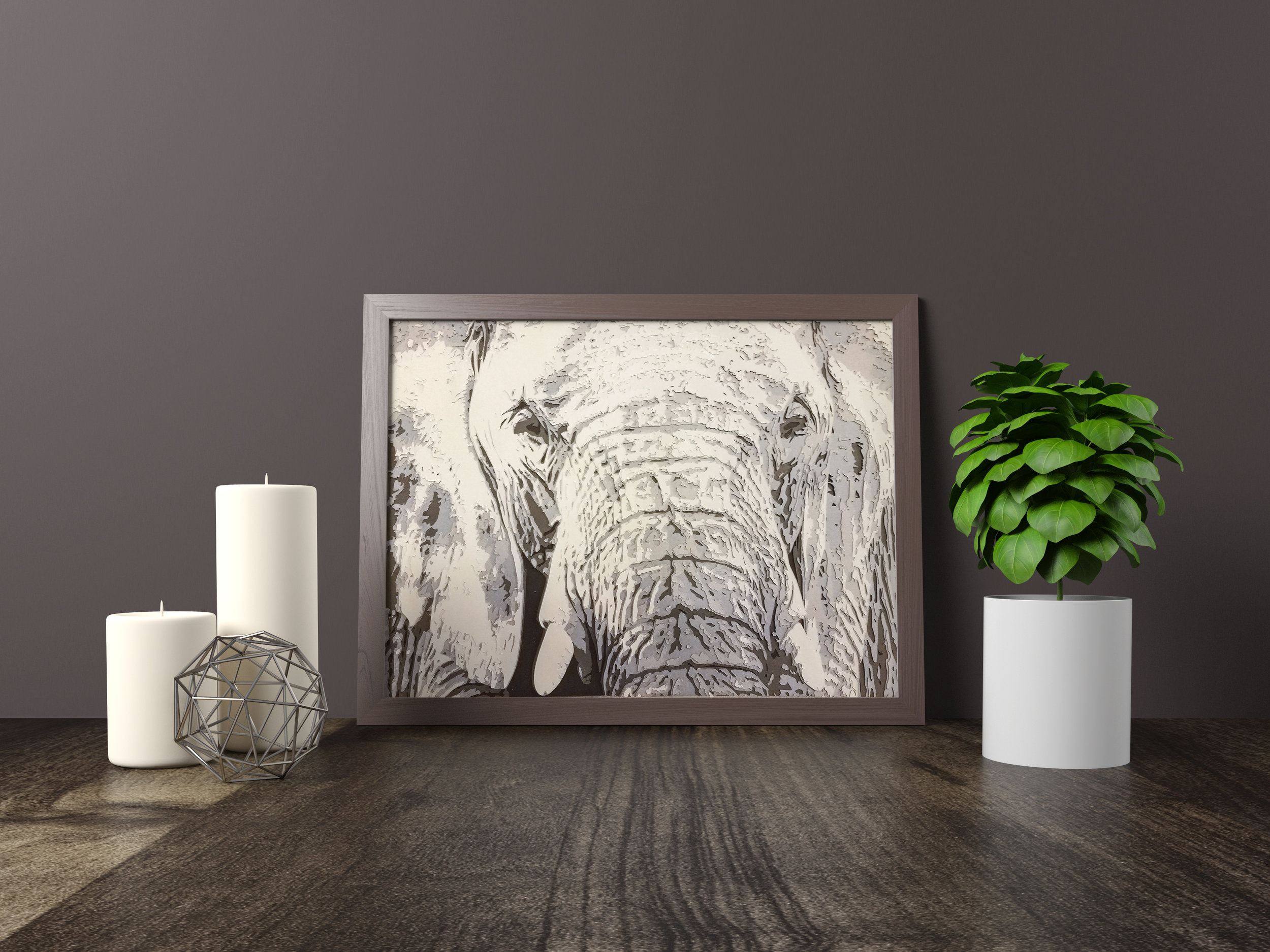 WISE OLD ELEPHANT - Winner - 2nd Place, Omaha Artists, Inc. Winter Show 2018Original artwork *SOLD* 11