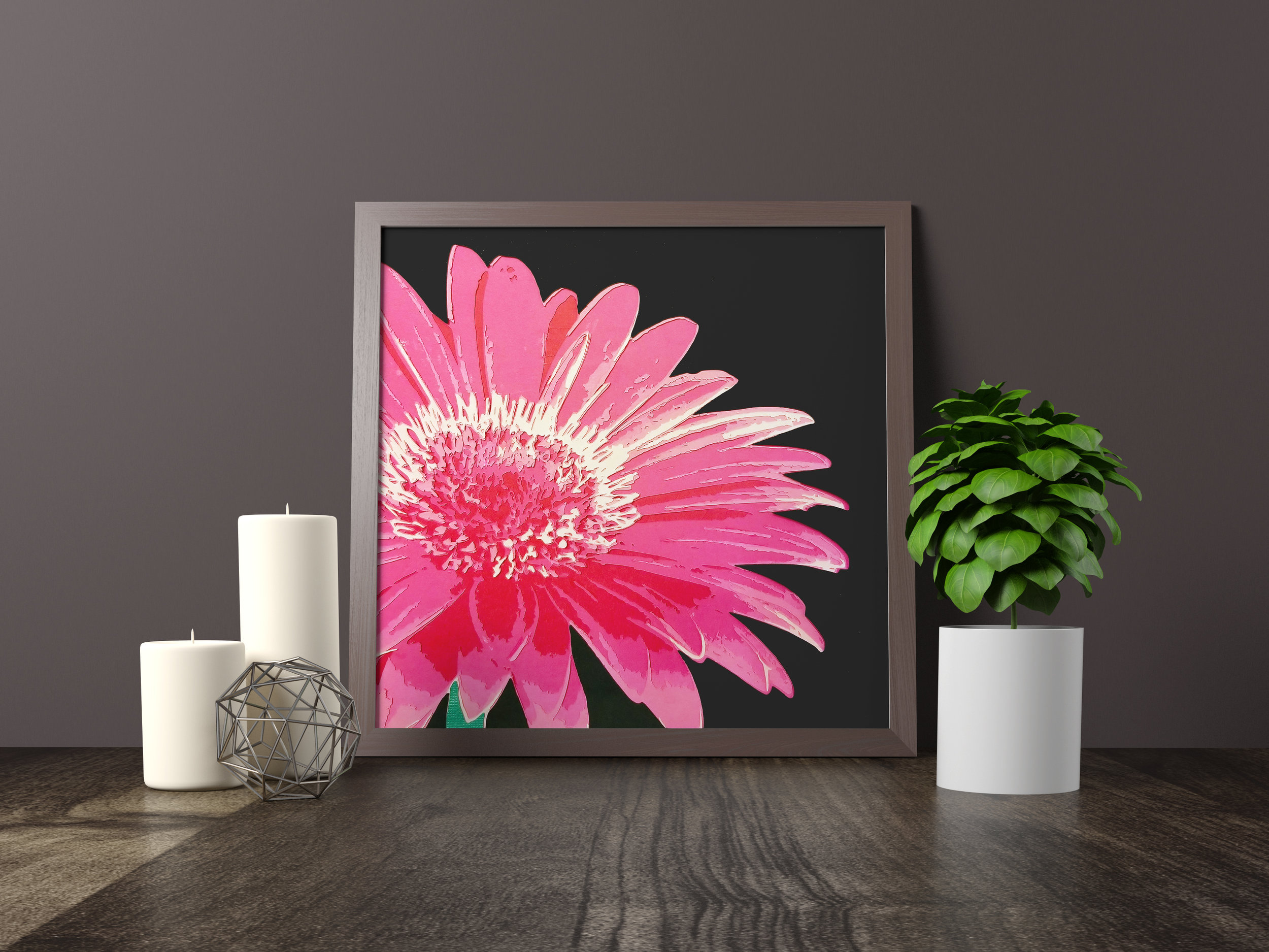 SPRING GERBERA - Featured on the front cover of the April 2018 edition of Edge MagazineOriginal artwork *SOLD*12