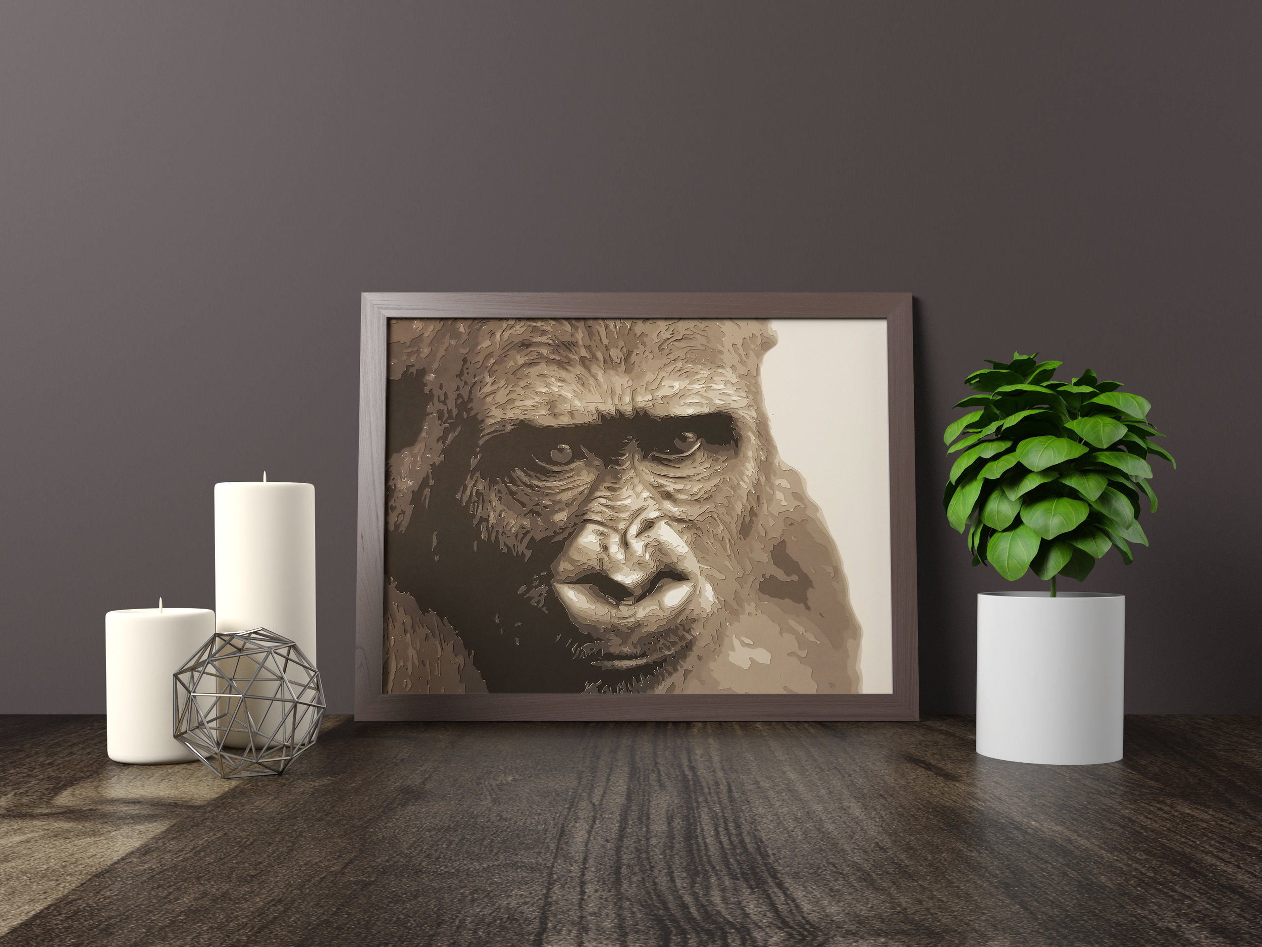 Gorilla - Winner - Honorable Mention, Omaha Artists, Inc. - Gallery 92 Fremont Show, 2018Original artwork *SOLD* 11