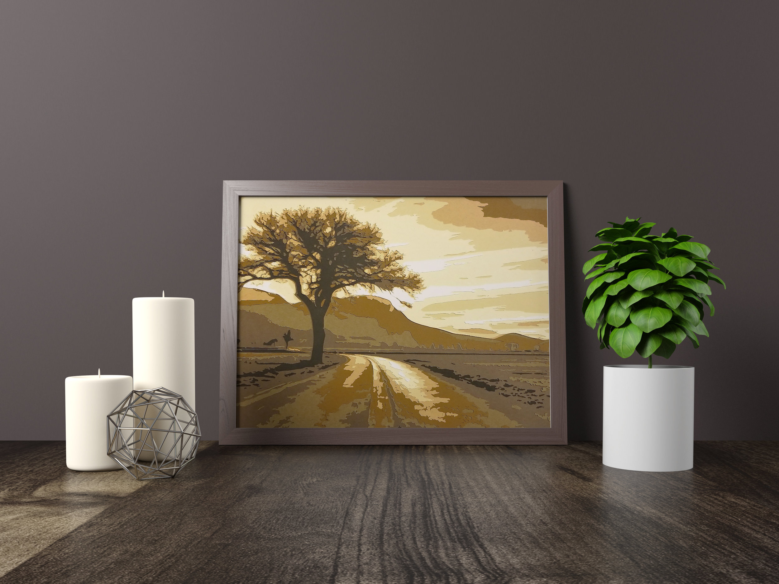 LONE TREE STANDING - Original Artwork *SOLD* 11