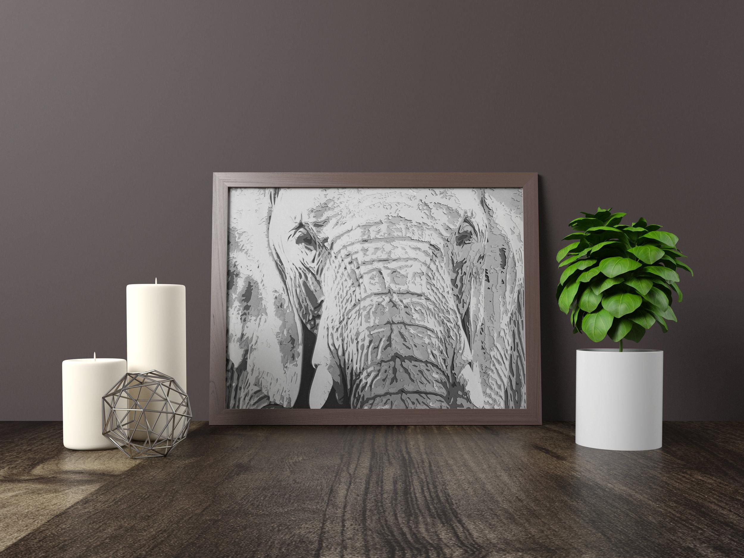wise old elephant - Original artwork *SOLD* 11