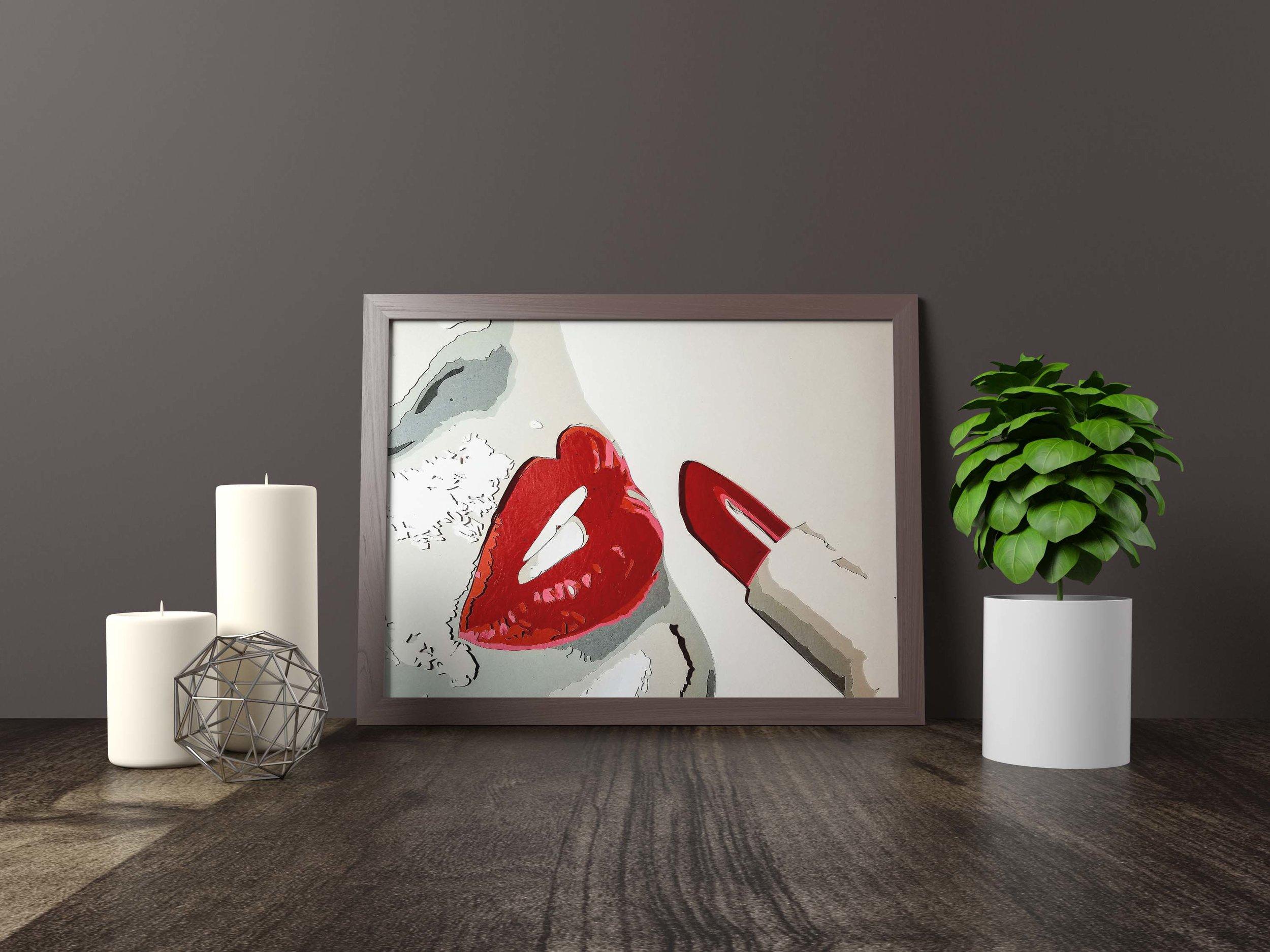 Lips - Original *SOLD*11