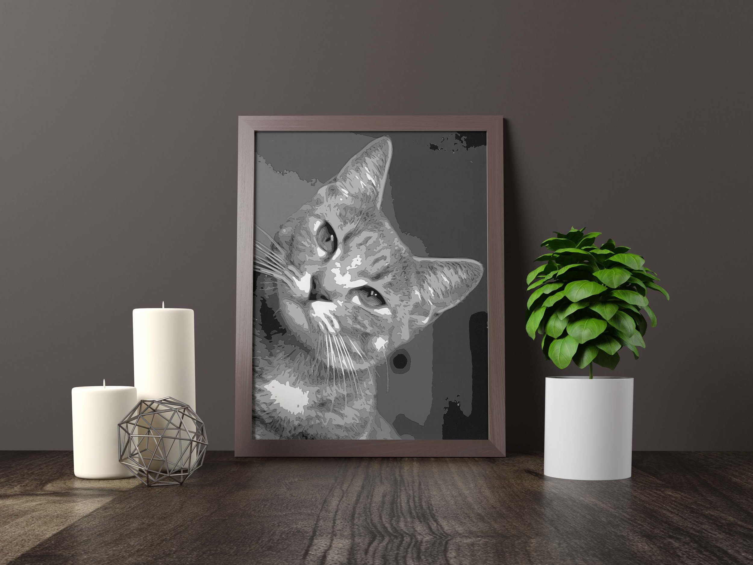 peeking cat - Original Artwork *SOLD* 11