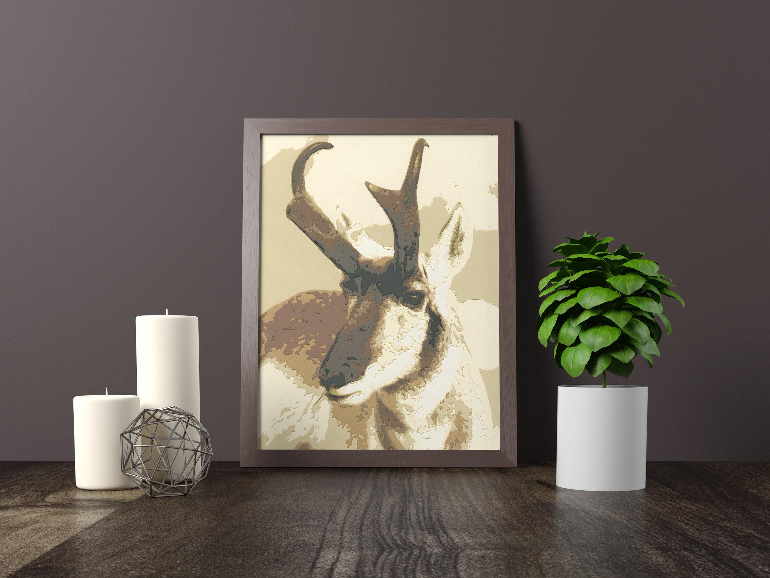 pronghorn - Original Artwork *SOLD* 11