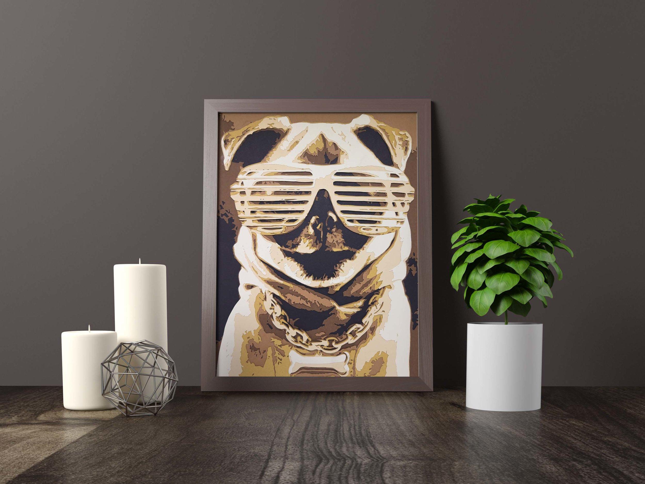 pug life thug life - Original Artwork *SOLD* 11