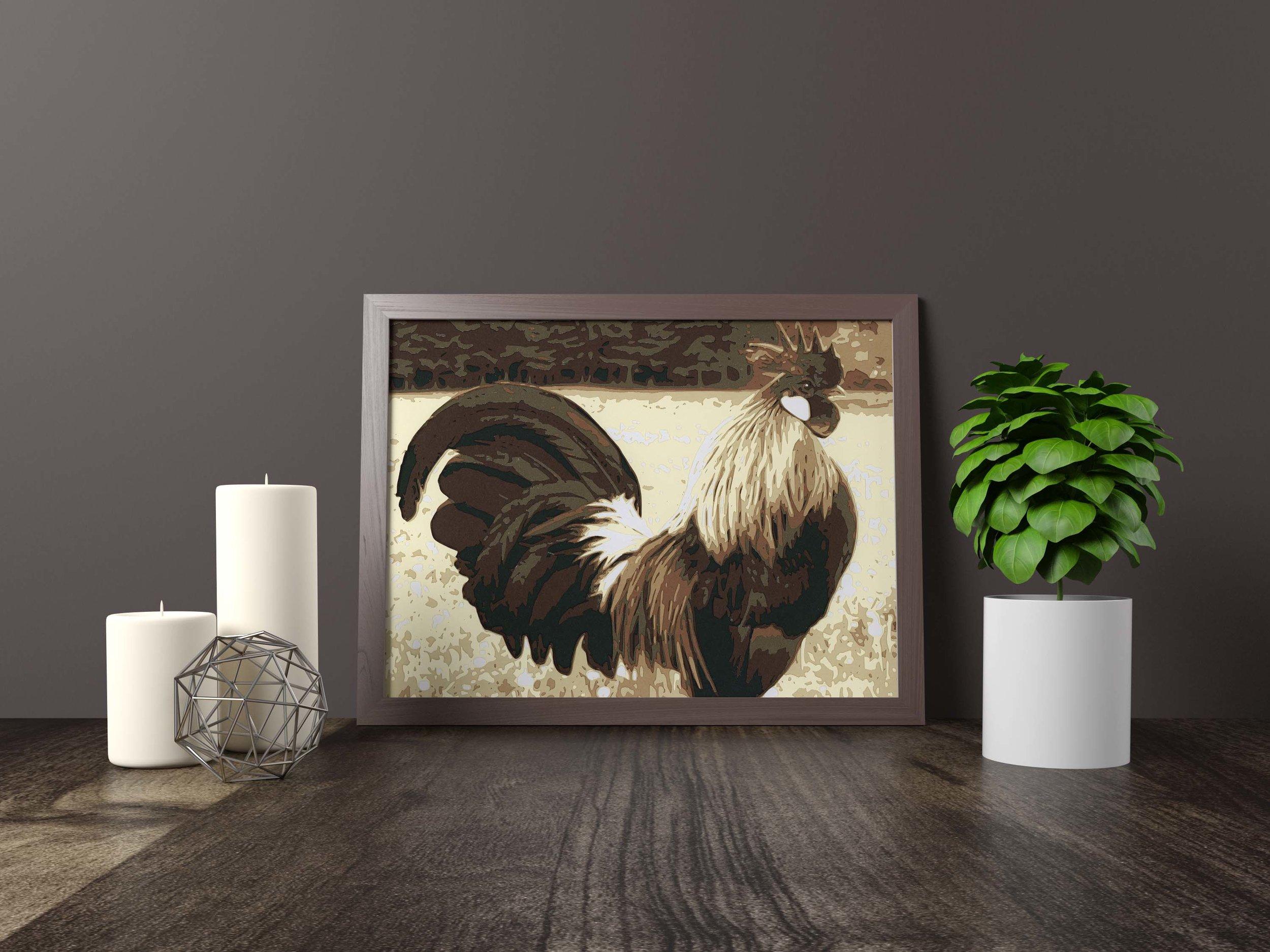 rooster - Original Artwork *FOR SALE* 11