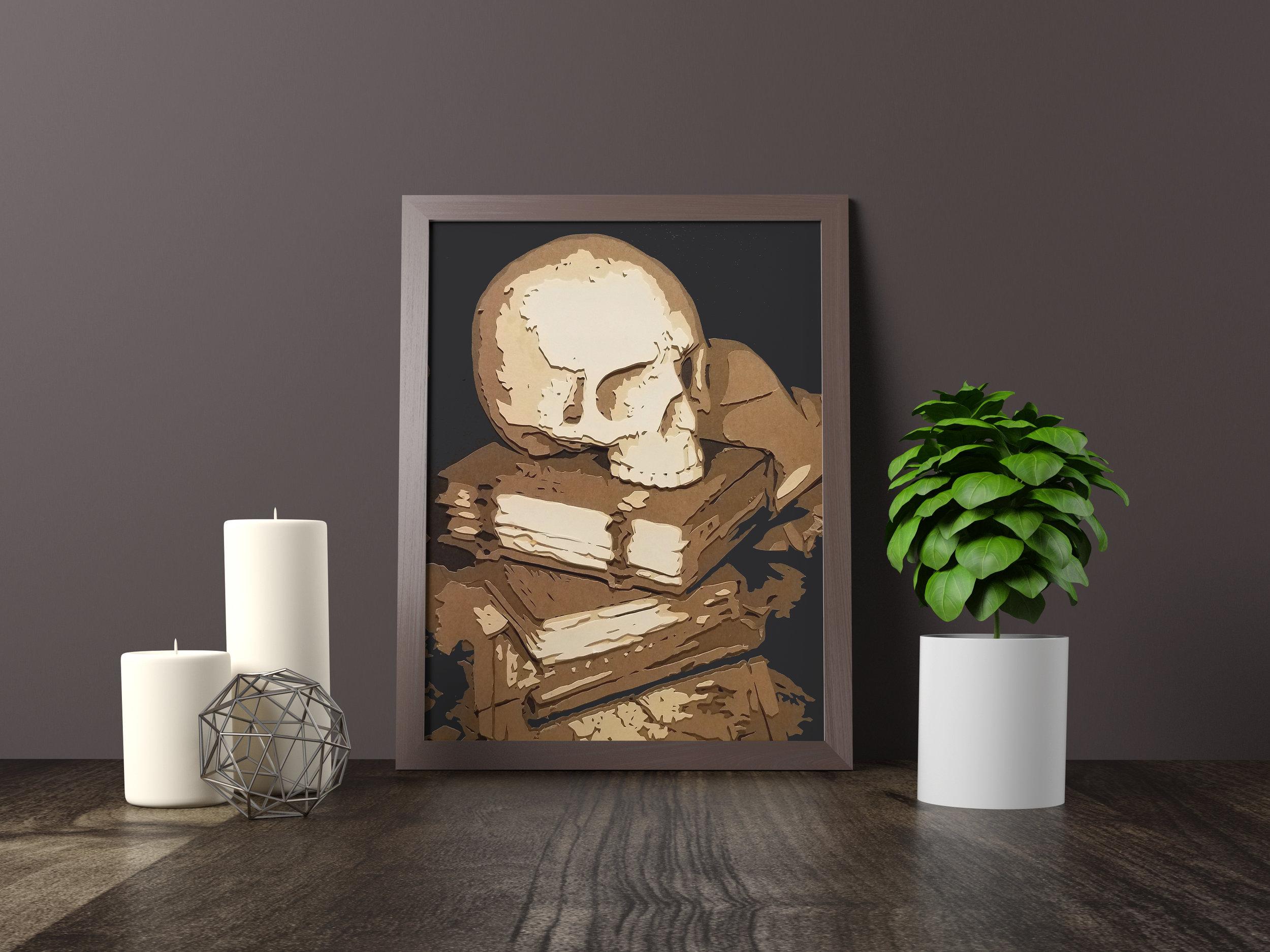 shakespearean skull - Private Commission *SOLD* 11