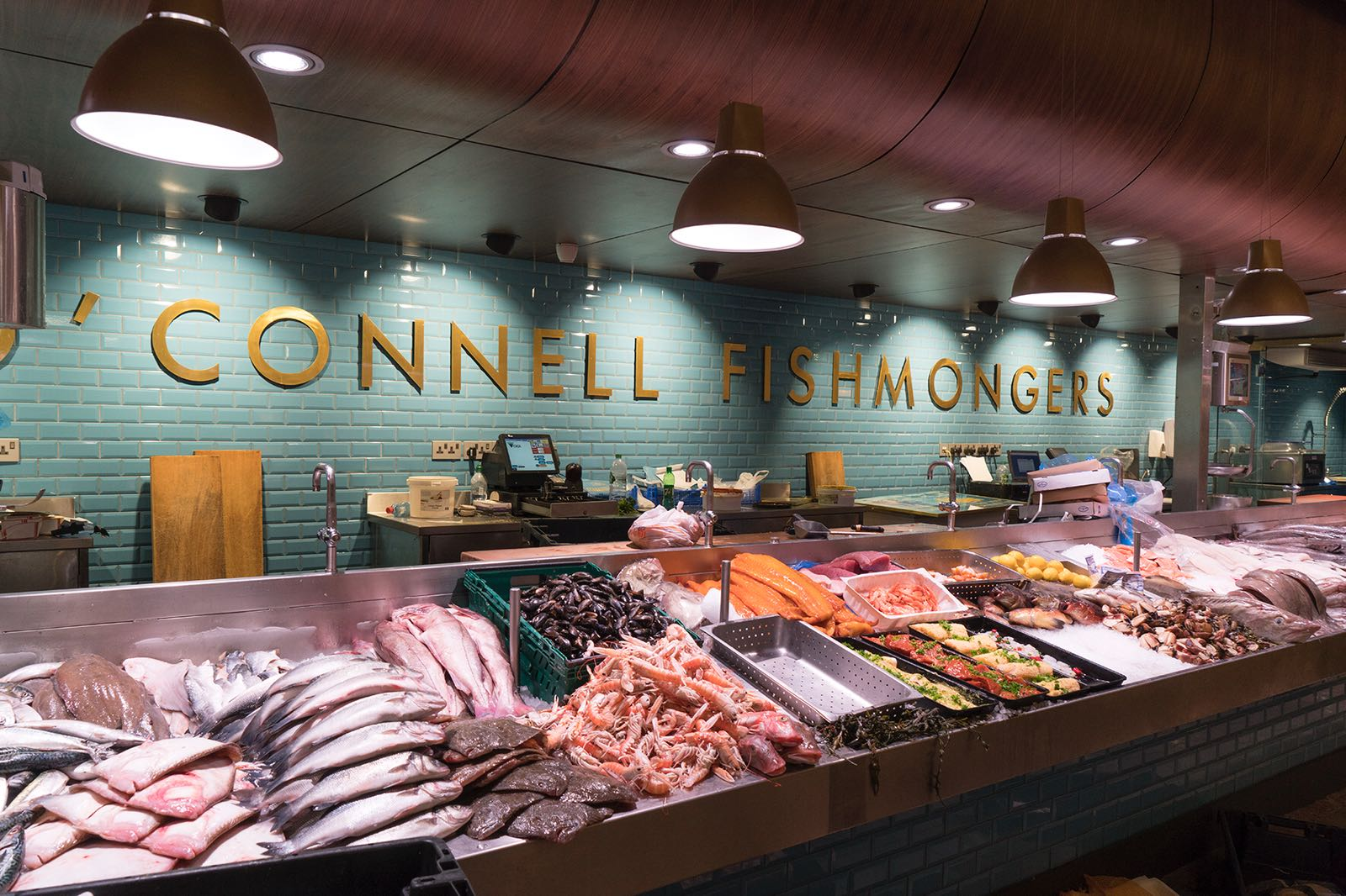 O'Connell Fishmongers at The English Market in Cork city, Ireland.