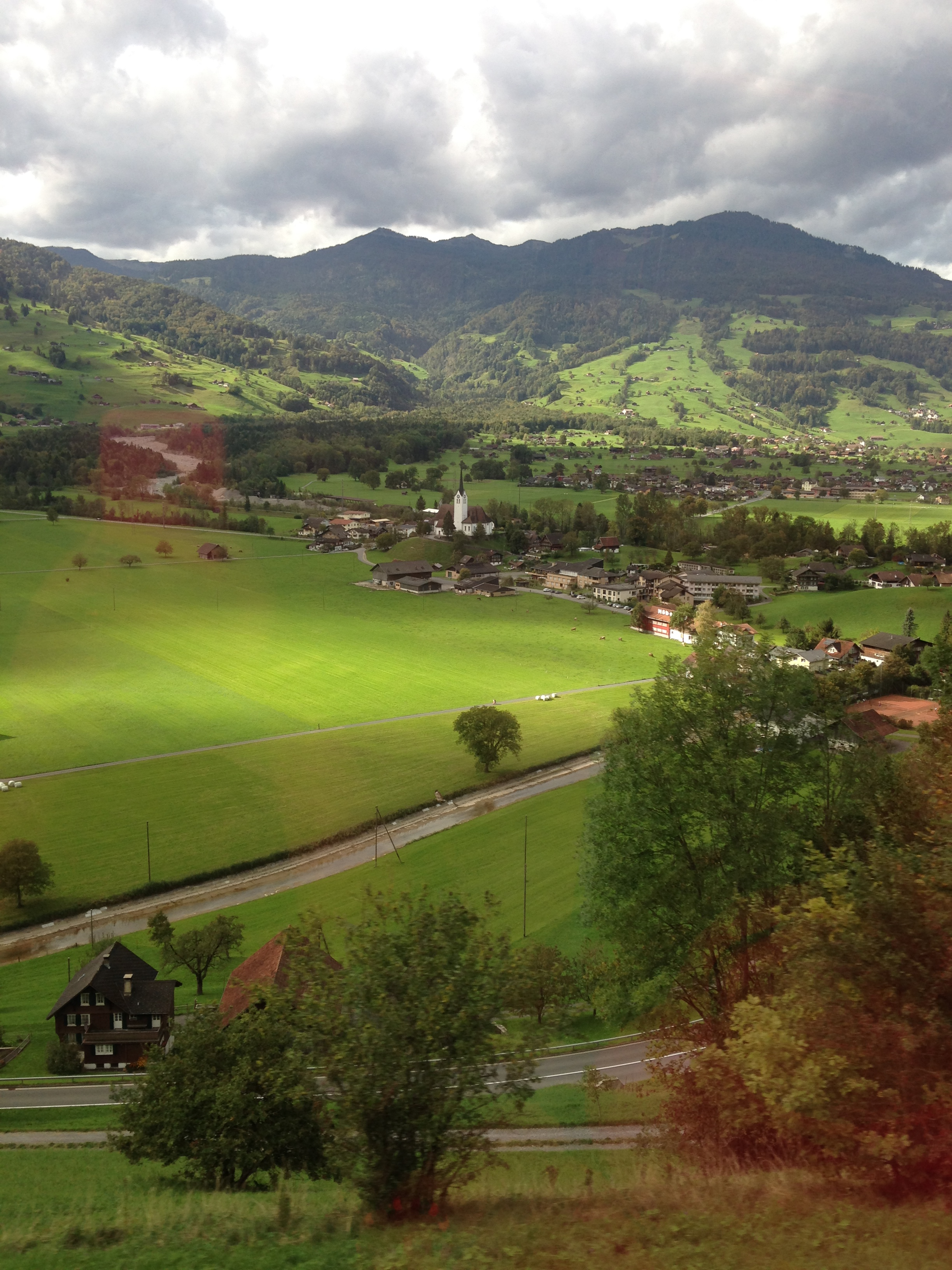 View from the train between Austria and Switzerland