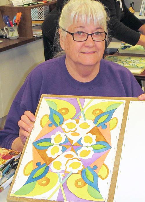 Member Karen Vroman, a professional watercolorist in her own right.