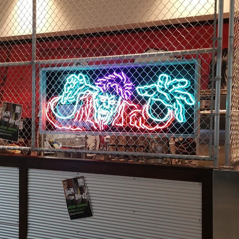 Zombie Burger neon sign