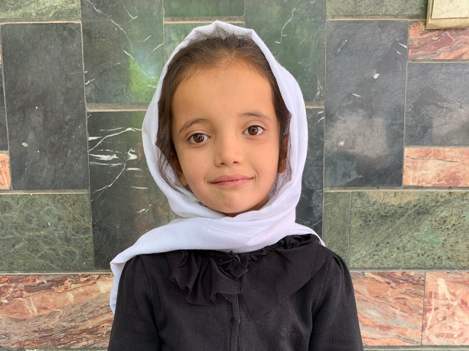 Yelda, Age 7 - Yelda has 2 siblings. Her mother is not currently unemployed. Her father is a construction worker.BE YELDA'S PARTNER >∆