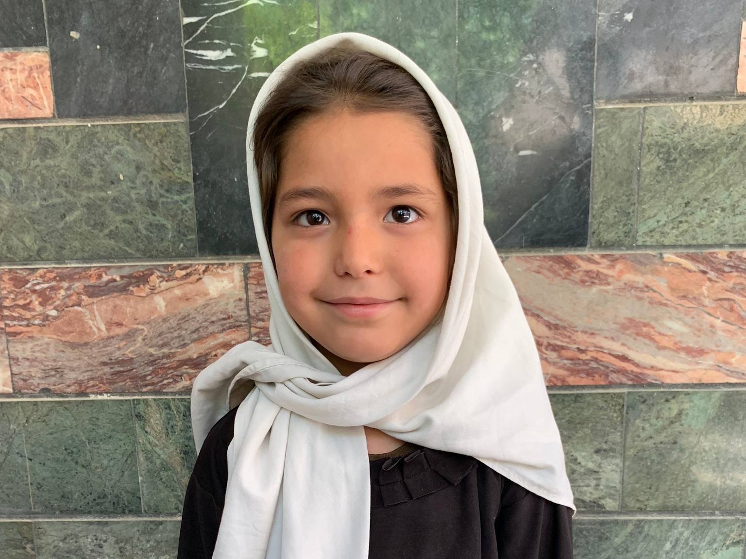 Fatima B., Age 7 - Fatima has 3 siblings. Her mother is not currently employed. Her father is a day laborer.BE FATIMA B'S PARTNER >
