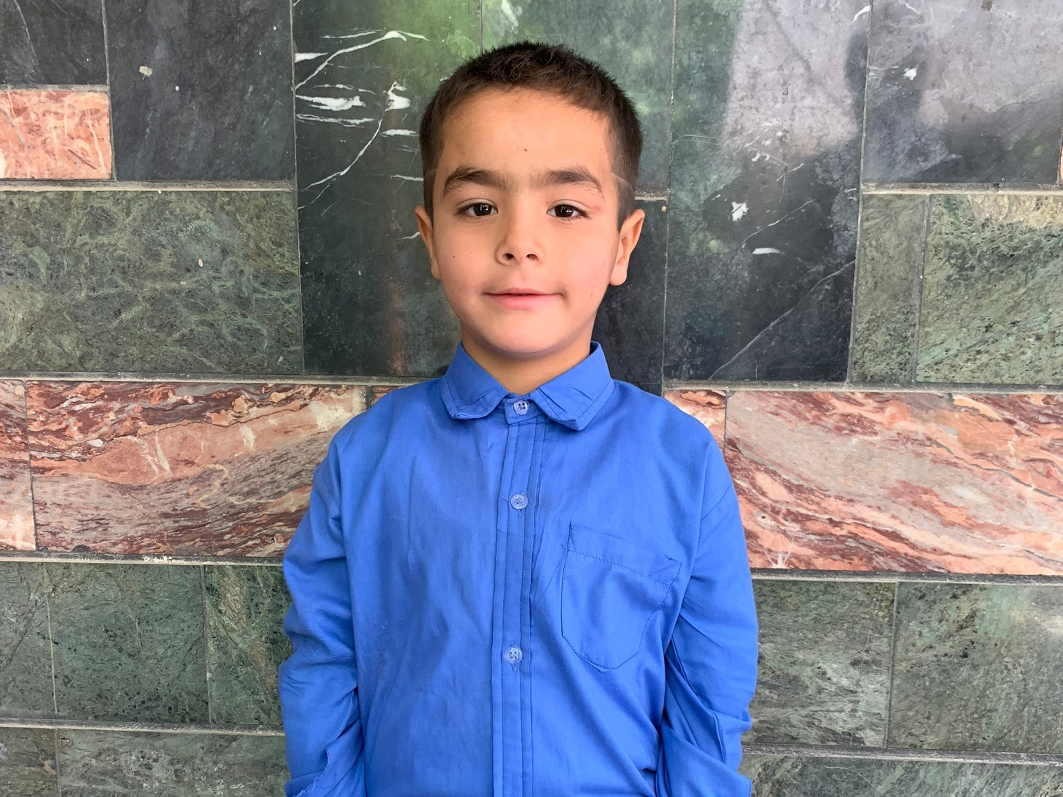 Omid, Age 7 - Omid has 1 sibling. His mother and father are both currently unemployed.BE OMID'S PARTNER >