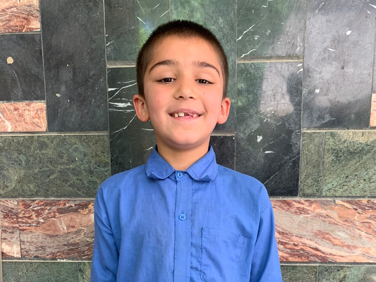 Ahmad Mubaraz, Age 9 - Ahmad Mubaraz has 9 siblings. His mother and father are both unemployed at this time.BE AHMAD MUBARAZ'S PARTNER>