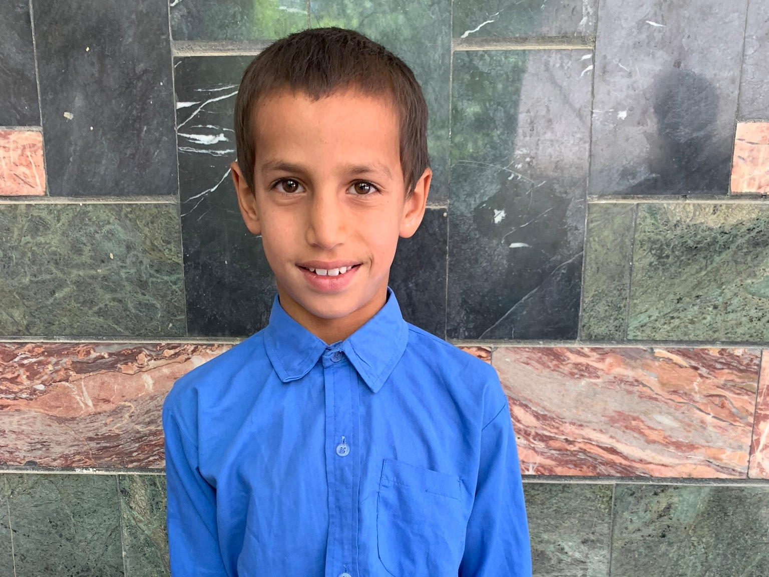 Muhmad, Age 8 - Muhmad has 8 siblings. His mother is unemployed. His father is a day laborer with a wheelbarrow.BE MUHMAD'S PARTNER>
