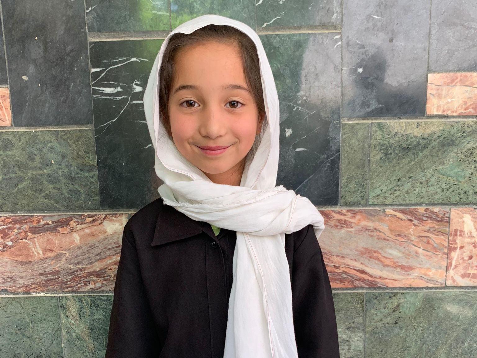 Sadaf, Age 8 - Sadaf has 8 siblings. Her mother is unemployed. Her father is a day laborer with a wheelbarrow.BE SADAF'S PARTNER>