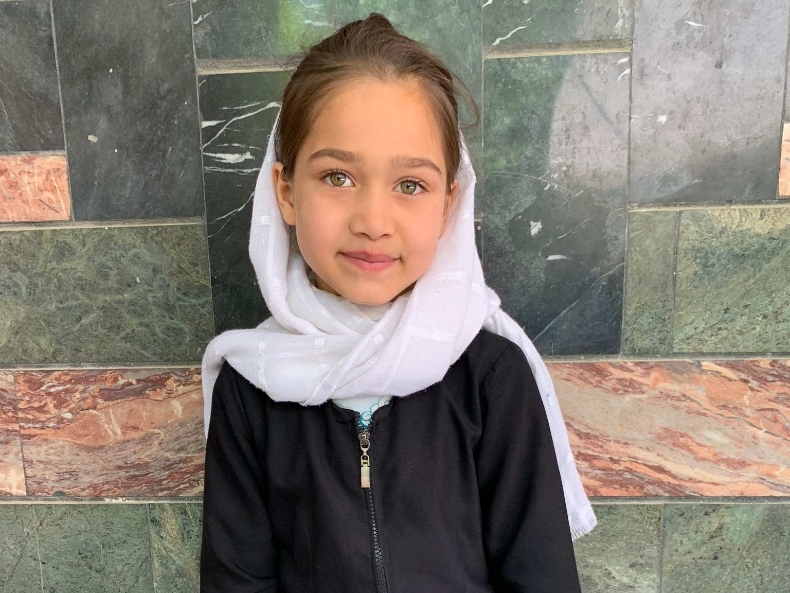 Stayash, Age 8 - Stayash has 1 sibling. Her mother does not have work at this time. Her father is a driver.BE STAYASH'S PARTNER>