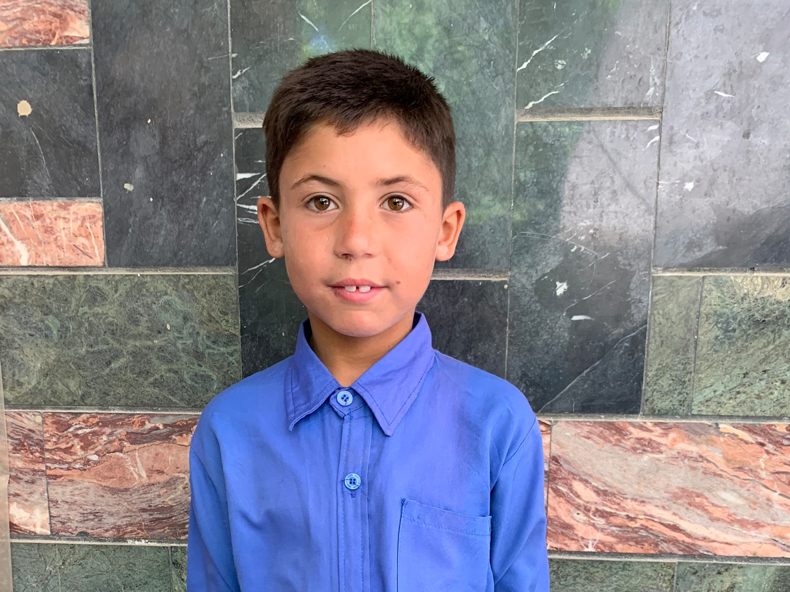 Ahmad, Age 8 - Ahmad has 8 siblings. His mother is unemployed. His father sells gas.BE AHMAD'S PARTNER>