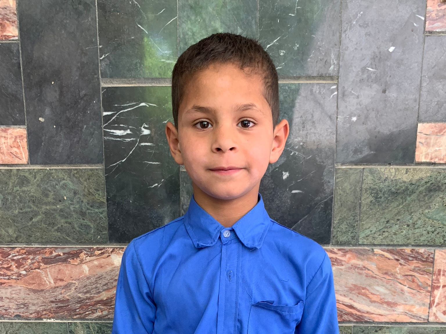 Khalid, Age 8 - Khalid has 3 siblings. His mother is unemployed at this time. His father is a carpenter.BE KHALID'S PARTNER>
