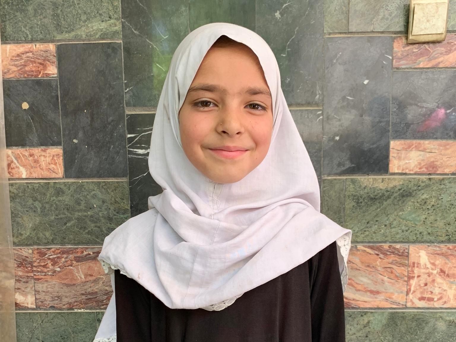 Sakena, Age 9 - Sakena has 3 siblings. Her mother and father are both unemployed.BE SAKENA'S PARTNER>