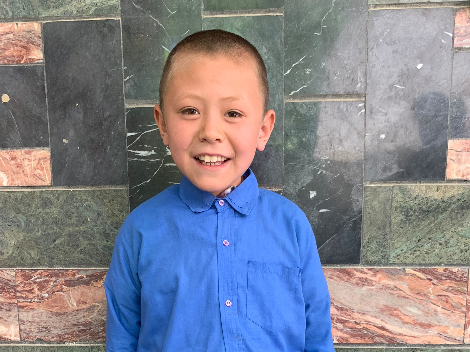 Amer Husin, Age 10 - Amer Husein has 5 siblings. His mother is not employed and his father is a plumber. Amer's father is a graduate of the Sozo Vocational Training Center.BE AMER' HUSEIN'S PARTNER>