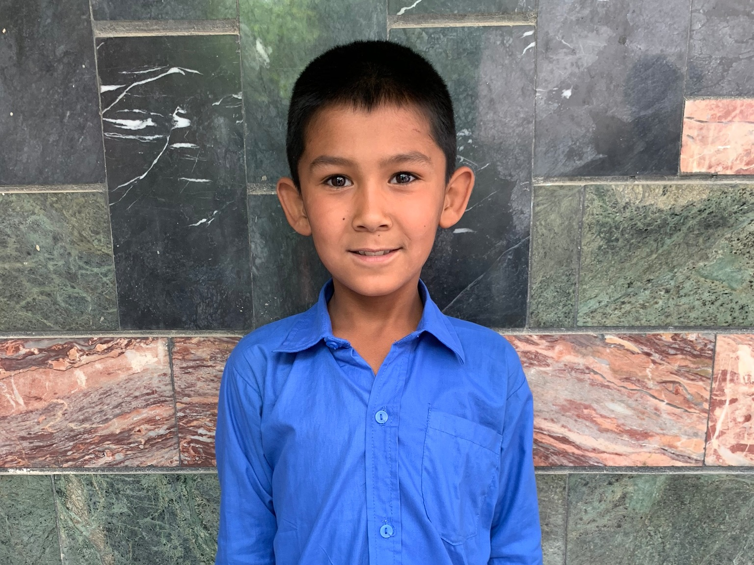 Salha, Age 8 - Salha has 3 siblings. His mother does not have work at this time and his father is a shopkeeperBE SALAH'S PARTNER>