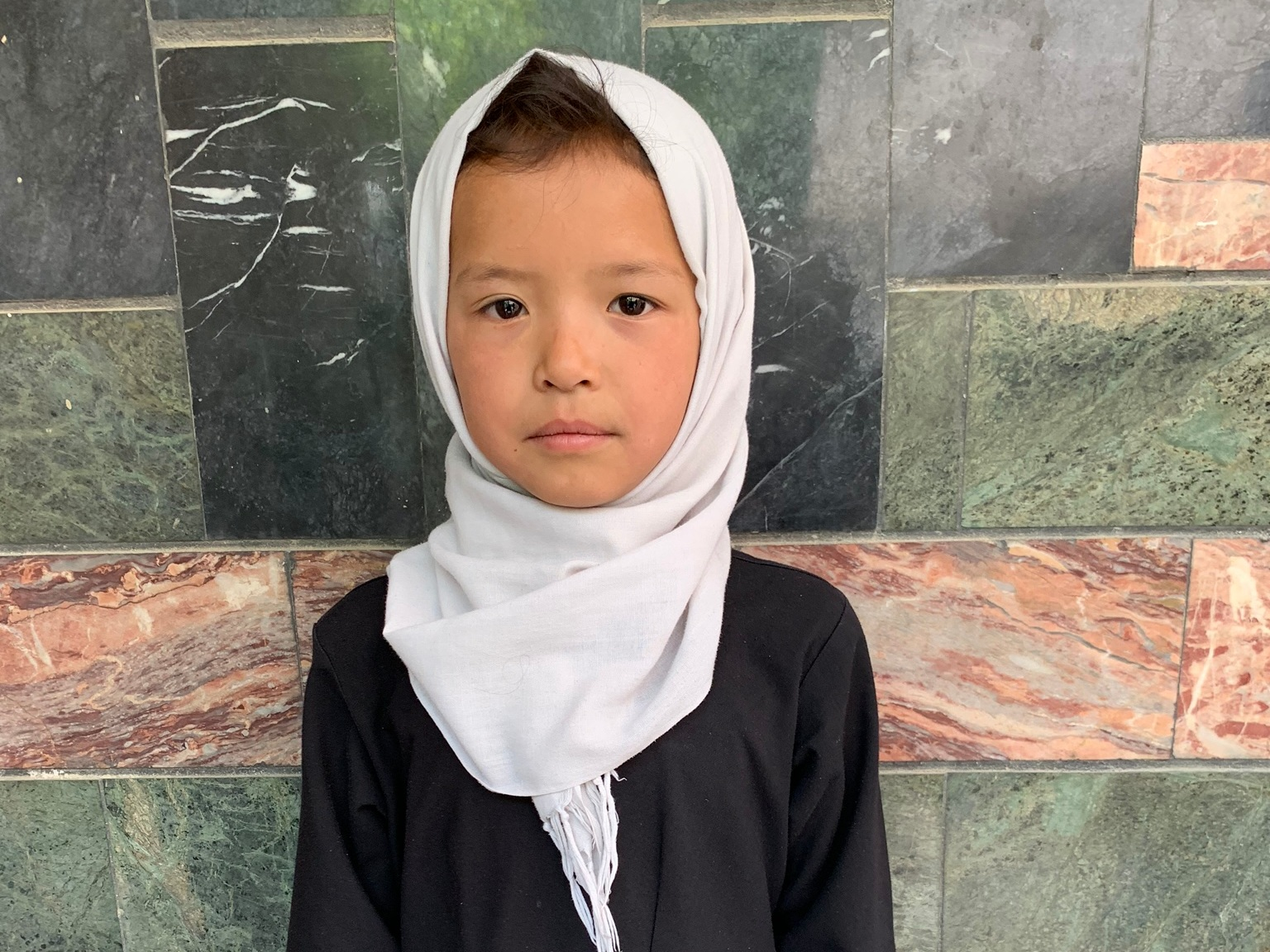 Farbia, Age 7 - Farbia has 4 siblings. Her mother does not have work at this time. Her father is a construction worker.BE FARBIA'S PARTNER>