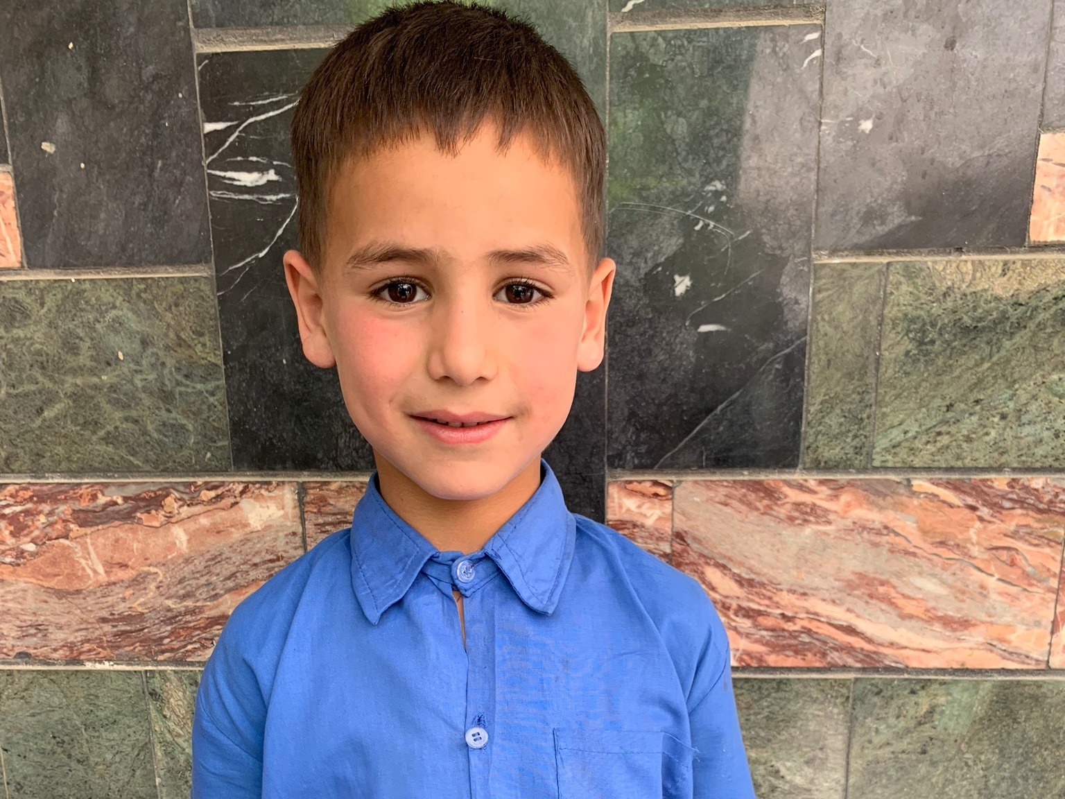 Milad, Age 7 - Milad has 2 siblings. His mother is unemployed. His father is a driver.BE MILAD'S PARTNER>