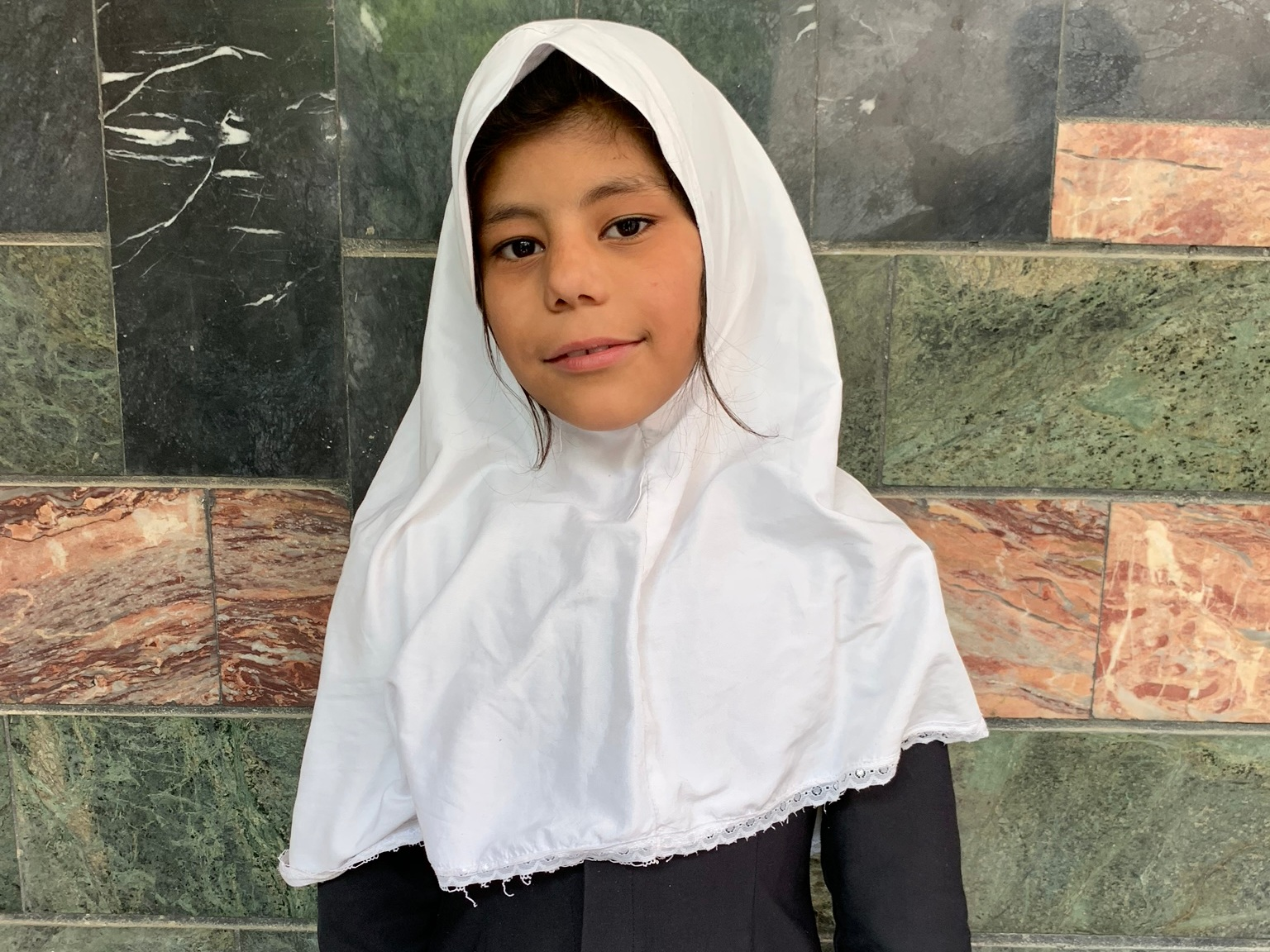 Almas A., Age 8 - Almas has 4 siblings. Her mother does not have work at this time. Her father is a driver.BE ALMAS A'S PARTNER>
