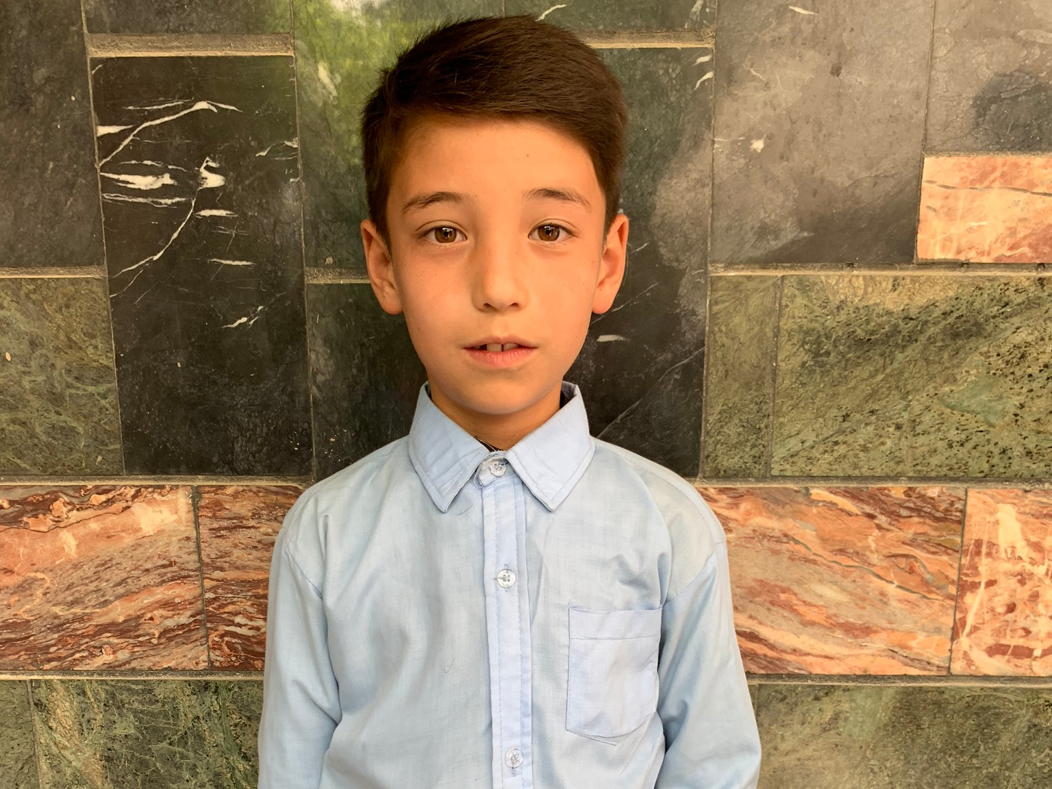 Mustafa, Age 8 - Mustafa has 5 siblings. His mother is unemployed and his father is a policeman.BE MUSTAFA'S PARTNER>