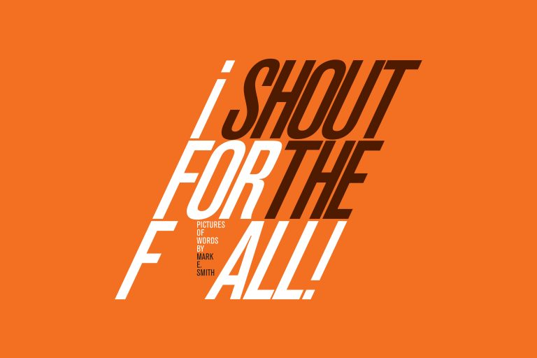I SHOUT FOR THE FALL - Gang artist - Lee Crocker is part of this new exhibition as part of Design Manchester 2018. Art work inspired by the words of Mark E. Smith.http://designmcr.com/events/i-shout-for-the-fall-pictures-of-words-by-mark-e-smith