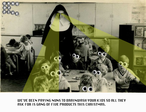'Nuns Brainwashing Kids' by Stephen C. Nuttall.