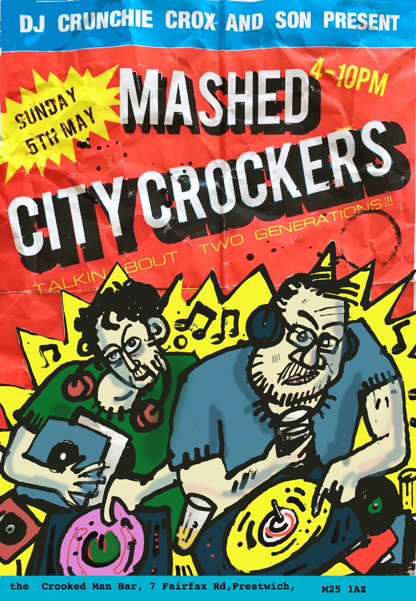 Mashed City Crockers Poster by Lee Crocker (2019)