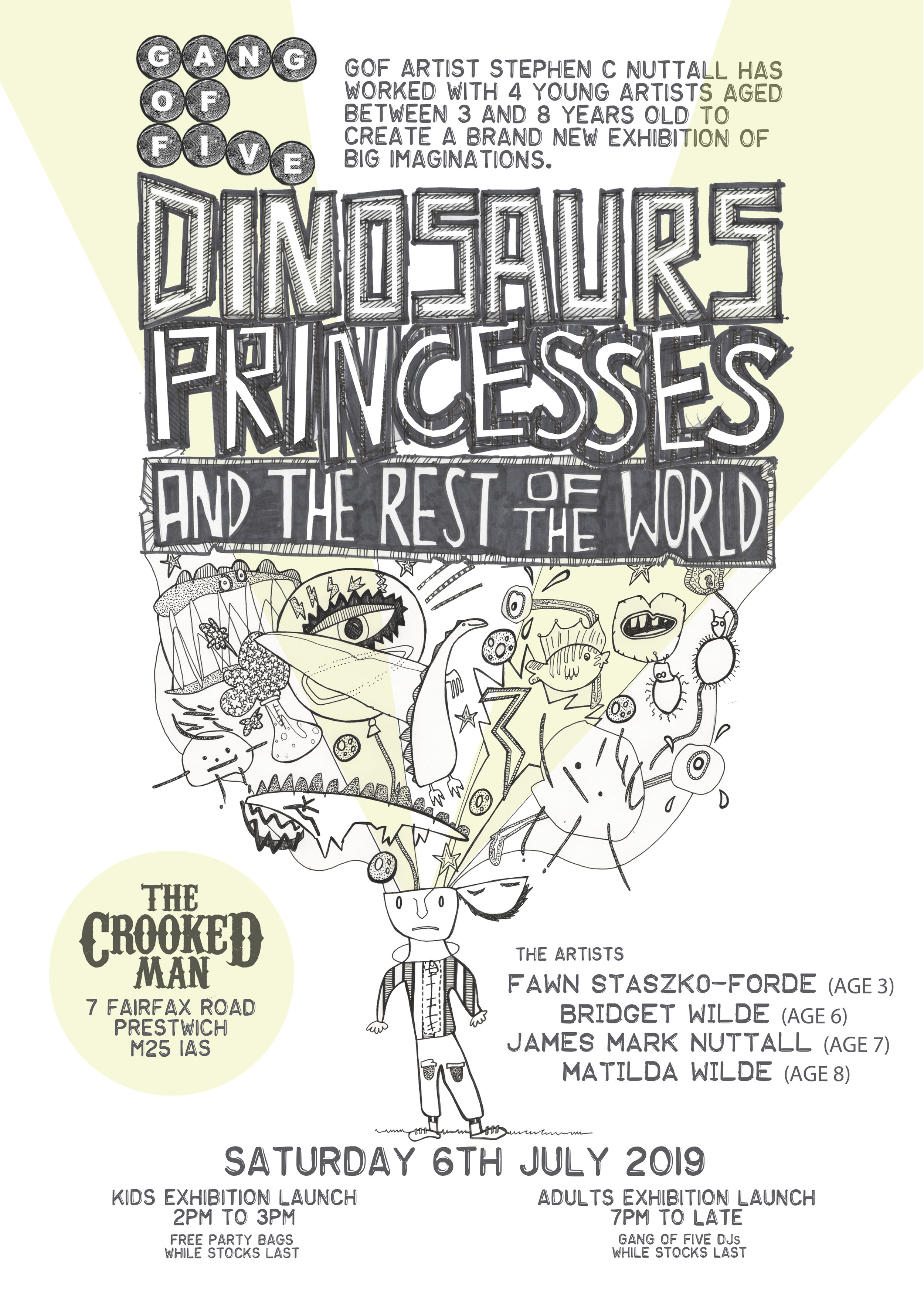 Dinosaurs, Princesses and the Rest of the World Poster by Stephen C. Nuttall (2019)