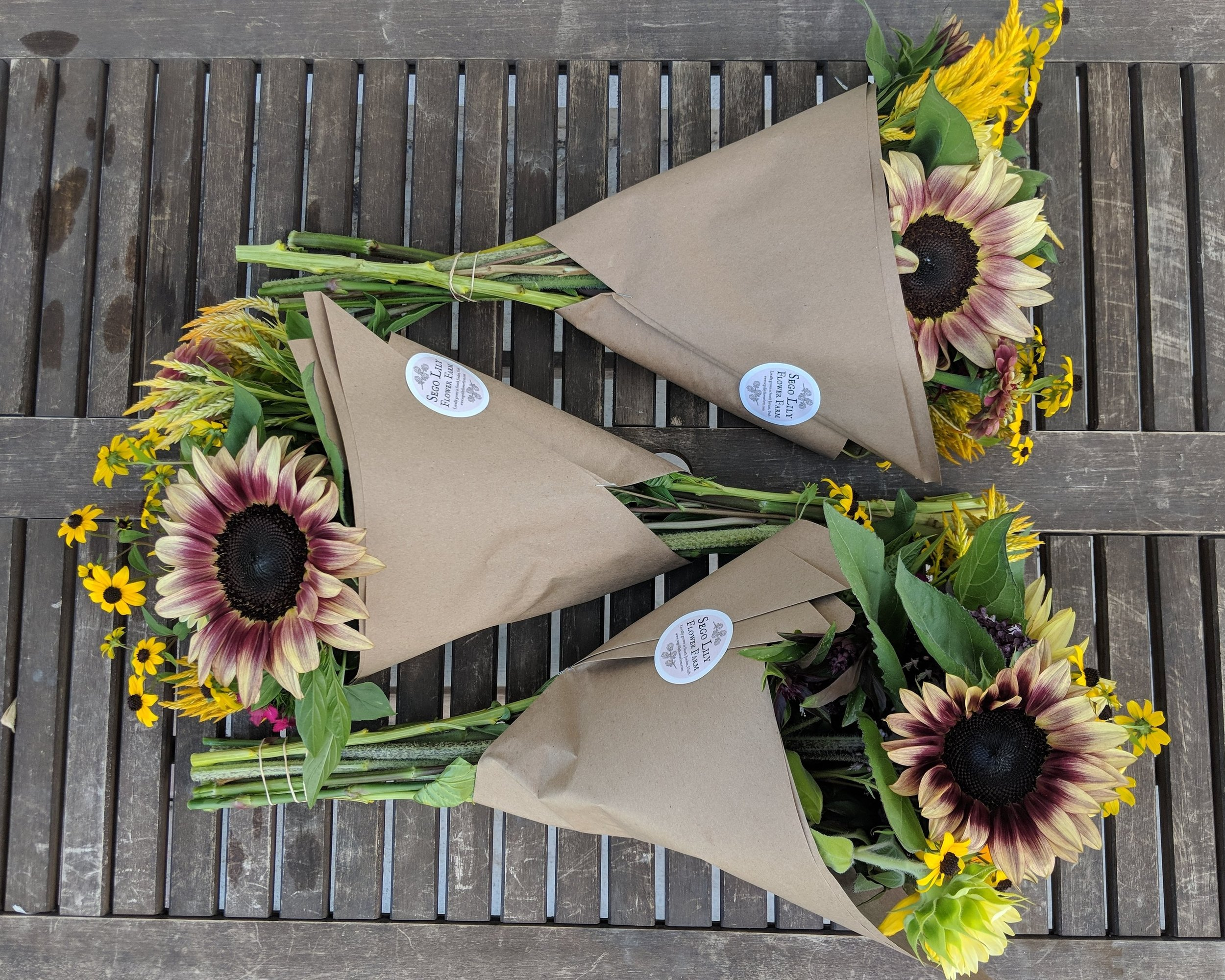 Late summer subscription bouquets.